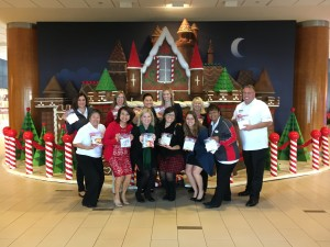2016 OCCRC Holiday Gathering at the Disneyland Hotel where members made care packages for Operation Interdependence